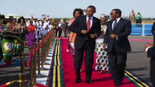 US President Obama in Tanzania in 2013