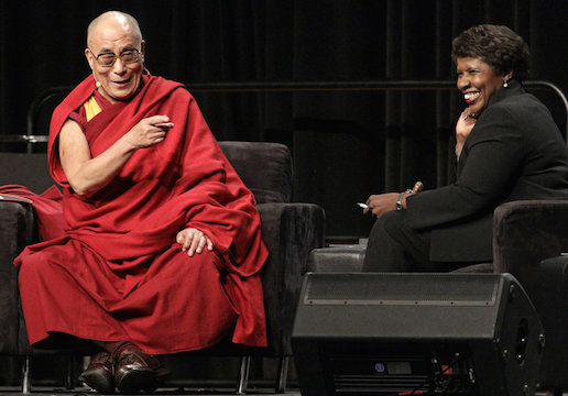 Gwen Ifill with the Dalai Lama in 2010