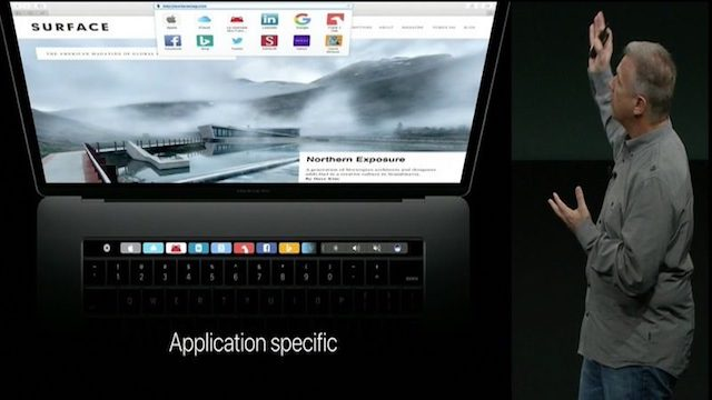 Mac Book Pro 2016  Tool Bar