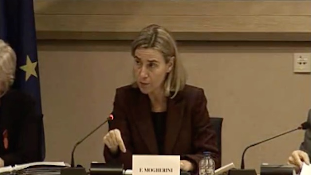 EU High Representative Mogherini at DEVE Conference