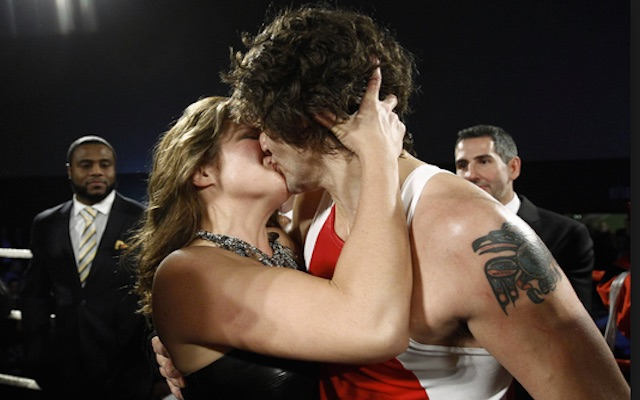 Canadian Justine Trudeau Kisses Wife After Boxing Match