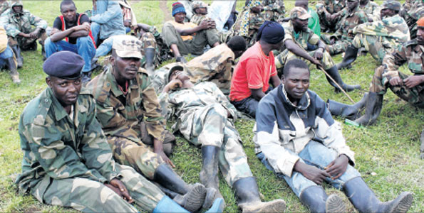 Rwandan backed M23 Congolese rebels in Rwanda after their defeat in 2013, by UN Brigade from Tanzania, Malawi and South Africa
