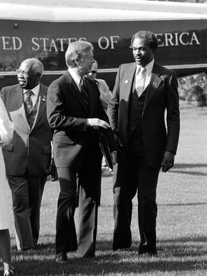 Marion Barry with US President Jimmy Carter in 1980