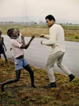 Muhammad Ali in Zaire, in 1974 for Rumble in Jungle  Boxing Match Against George Foreman