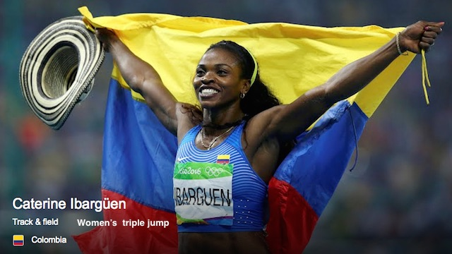 Caterine Ibarguen, Colombia, Women's triple jump