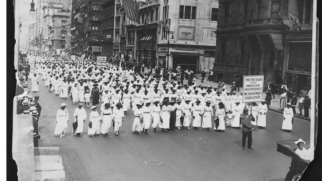 Silent March, July 28, 1917: Black Women and Children in white clothes