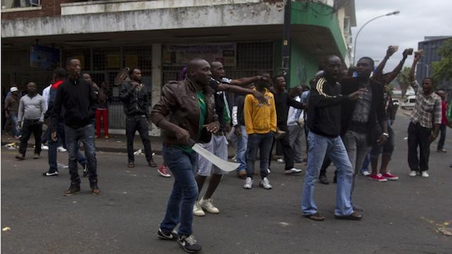 Mob of South Africans Targeting African Migrants