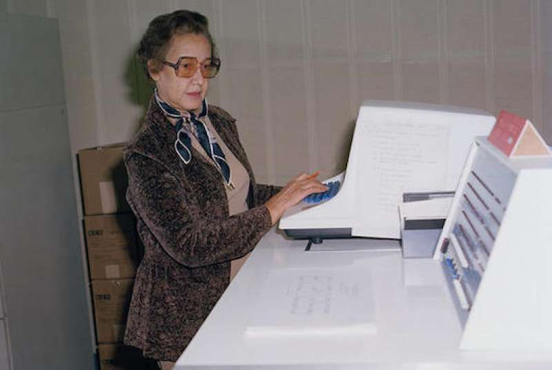 Katherine Coleman Goble Johnson,  NASA mathematician, physicist, and scientist. Credit NASA