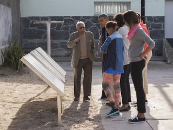 Ahmed Kathrada gives VIP tour of Robben Island Museum to President Obama and his family, in 2013