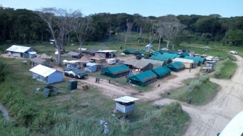 MONUSCO base near Semiliki river, Eastern DRC