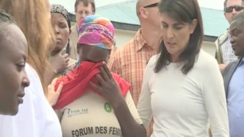 US Ambassador Nikki Haley in Eastern DRC in Oct 2017