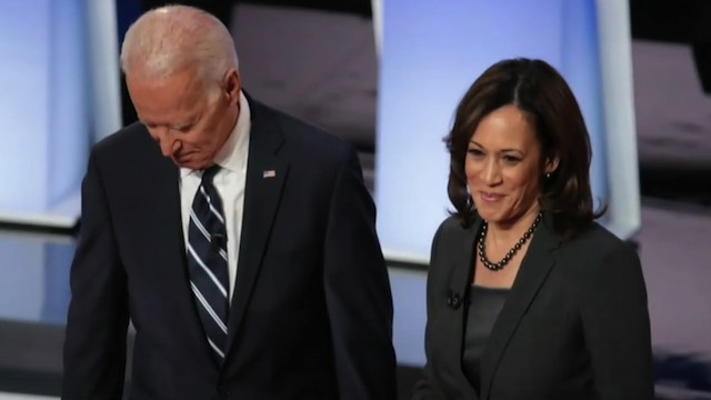 Kamala Harris and Joe Biden on a Campaign Trail