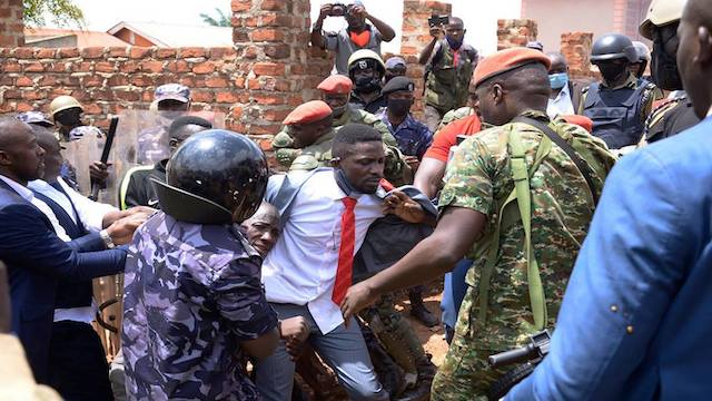 Bobi Wine arrested  during the campaign on Nov 3, 2020