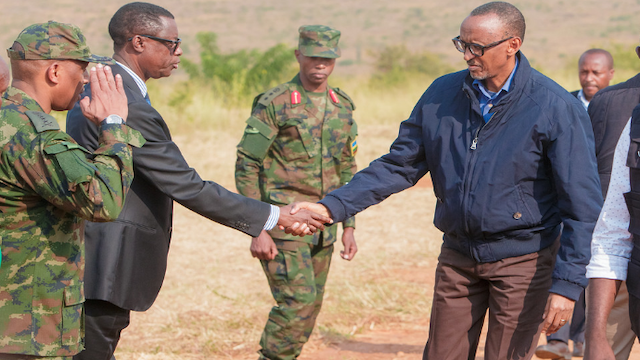 Rwandan General Paul Kagame and General James Kabarebe