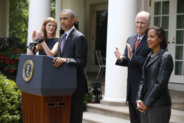 President Obama, Susan Rice and Samantha Power