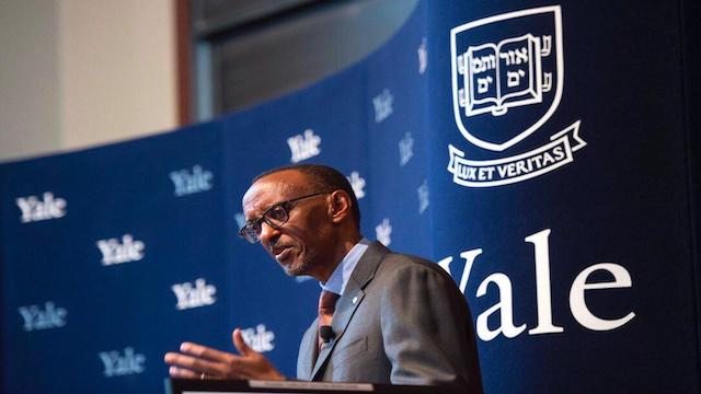 Removed Yale University's Twitter Banner with  Paul Kagame