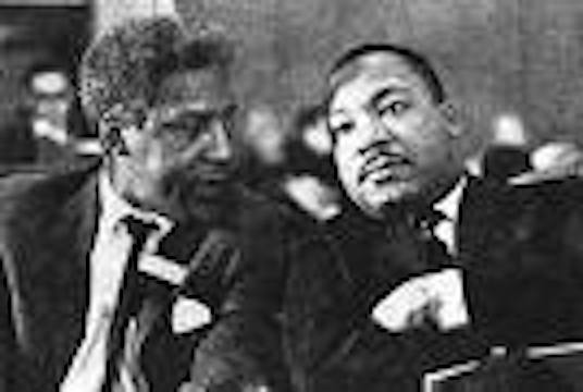 Rustin Bayard and Dr Martin Luther King, Jr