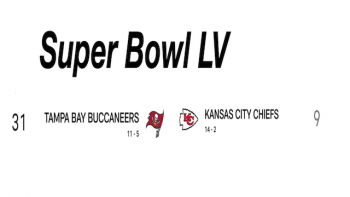 NFL Super Bowl  LV, Feb 7, 2021