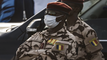 Chad's Idriss Deby's son, General Mahamat Idriss Déby Itno in Djamena, April 20, 2021